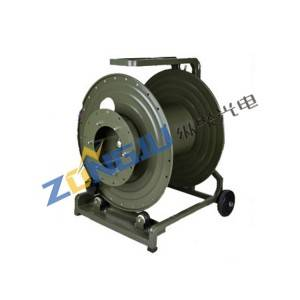 Mobile Portable Metal Cable Reel For Armored Military Tactical Fiber Optic Cable