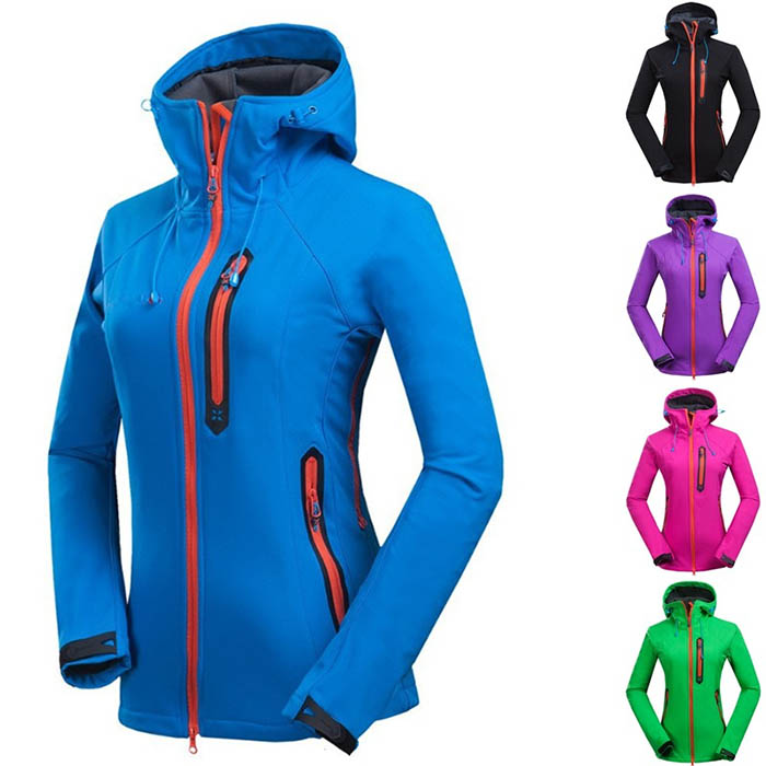 Sport Outwear jacket Wholesale customized  women waterproof and quick dry soft shell Polar Fleece Jacket short outdoor Jacket Featured Image