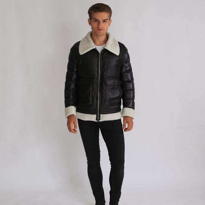 Factory Wholesale Men Apparel Fashional Clothes Down Short Coat Featured Image