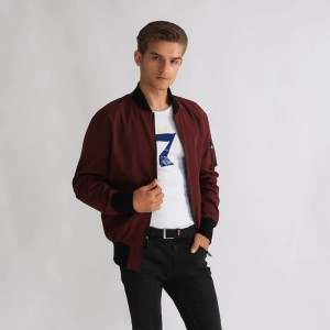 100% Polyester Windproof Custom Men Short Bomber Jackets