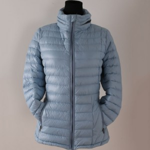 Super light weight down jacket with Fashional design  custom packable women outdoor down jacket