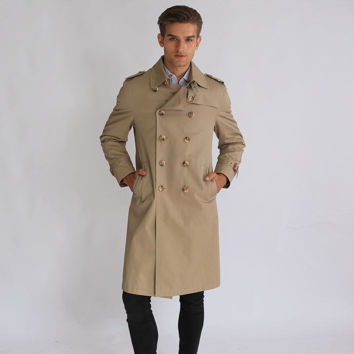 Men Apparel Formal Wear Long Windbreaker Jacket Featured Image