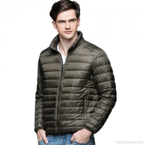 90% White Lightweight Duck Mens Down Jacket Ultra Light Winter Warm Puffer Down Coat Men Stand Collar