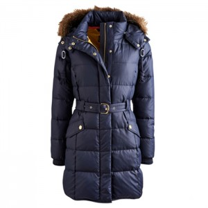 Long outdoor jacket best value winter windproof duck down  padding women outdor jacket with real fur
