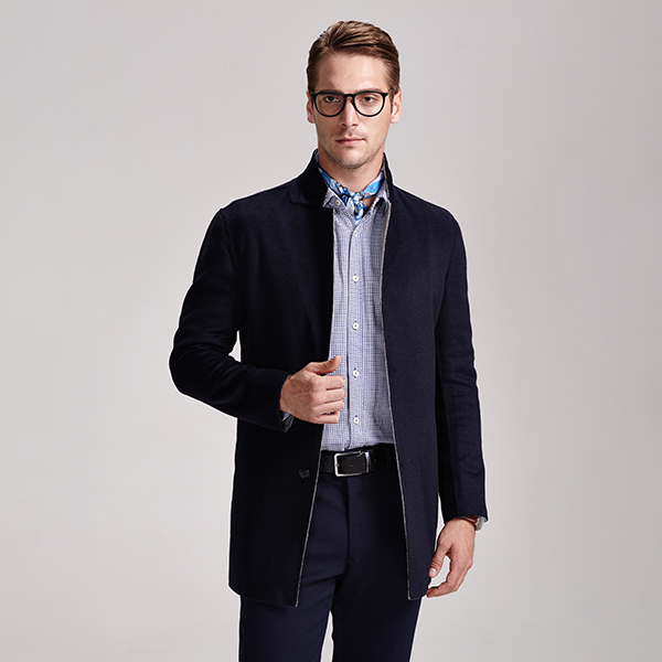 Factory Manufacturer Formal Short Woolen Men Coat Featured Image