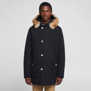 Men's arctic parka detachable fur
