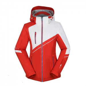 Women short outdoor ski jacket Heated warm waterproof  functional Wholesale Active Women snow ski Jacket