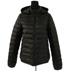 Winter Down Jacket for women manufacturer new design popular and custom black down coat with hood