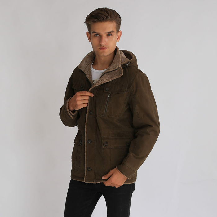Factory Manufacturer Men Apparel Casual Wear Short Coat Featured Image