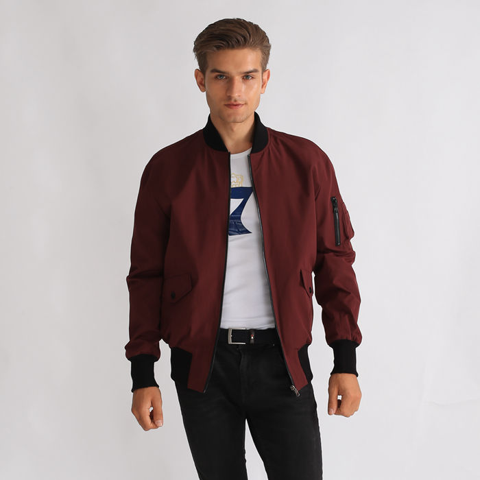 100% Polyester Windproof Custom Men Short Bomber Jackets Featured Image
