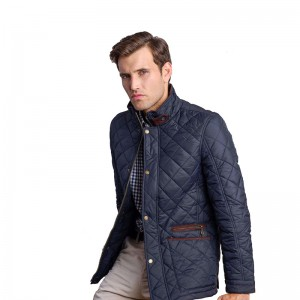 Classical men's padded jacket