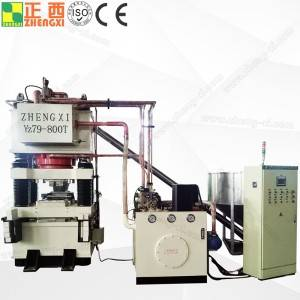 Salt block hydraulic press