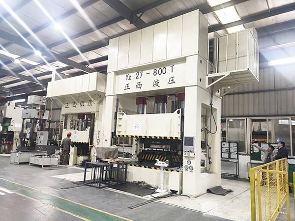 H frame 800T deep drawing hydraulic press
