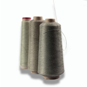 100% Original Silver Coating Polyamide Conductive Yarns - Stainless steel with aramid blended Yarn – 3L Tex