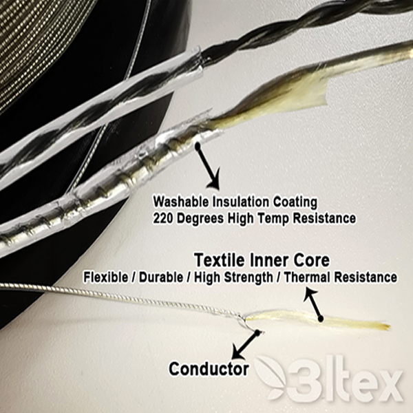 China Supplier Metal Fiber Thermal Resistant Thread - Teflon insulated conductive wire – 3L Tex detail pictures
