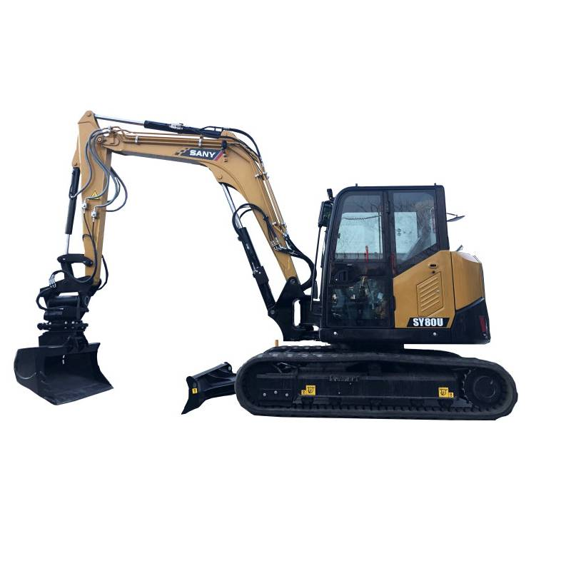 9ton Crawler Excavator SY80U multi-purposer  Excavator  for sale