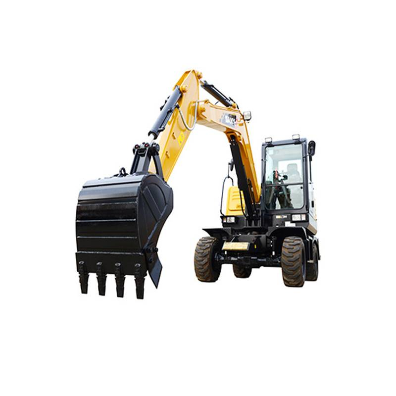 6ton wheel Excavator SY65W bucket Excavator for sale