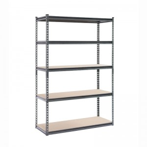 Hot-selling Wire Corner Shelving Unit -  Rivet Botless 5-Shelf Steel Shelving 48″ W x 24″ D x 72″ H  – ABC TOOLS