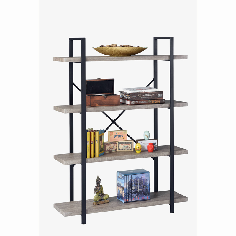 Book Rack 4-Shelf Vintage Industrial Shelving Unit for home Featured Image