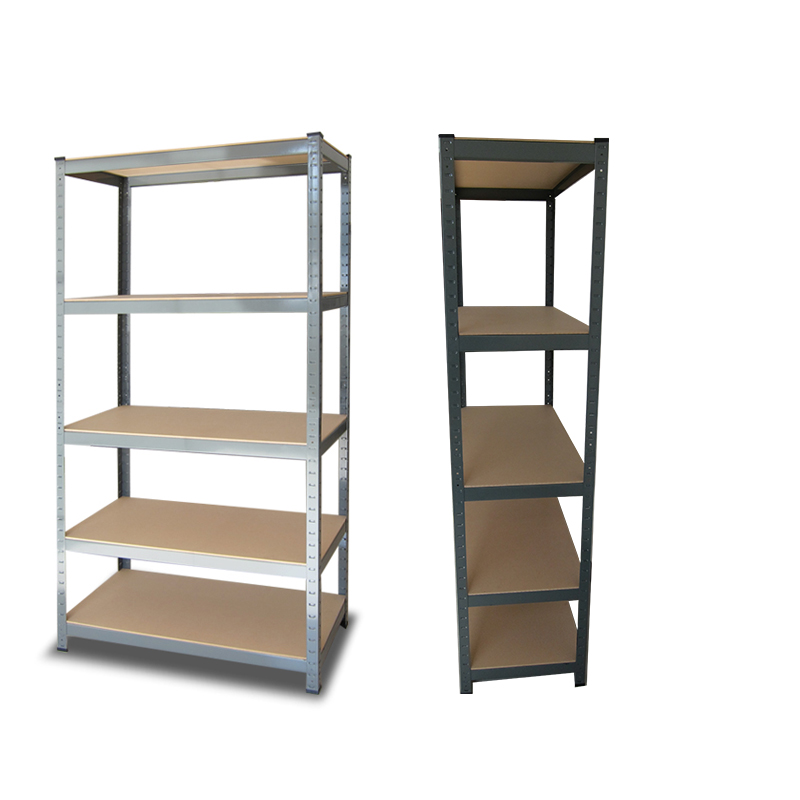 Straight edge boltless rivet shelving metal shelf rack for warehouse storage