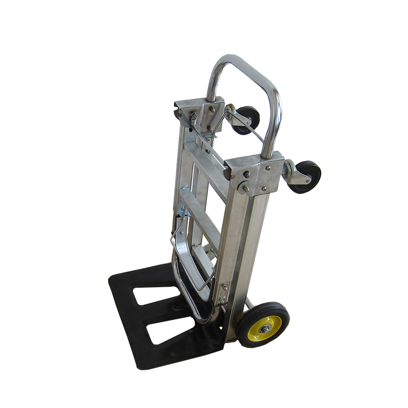 Storage Folding Hand truck Aluminum Cart 4 Wheels Trolley