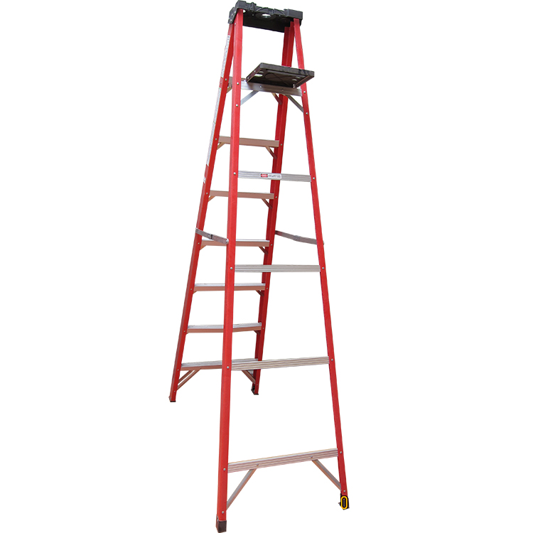 Hot Sale Light Weight Fiberglass Single-Sided Step Ladder