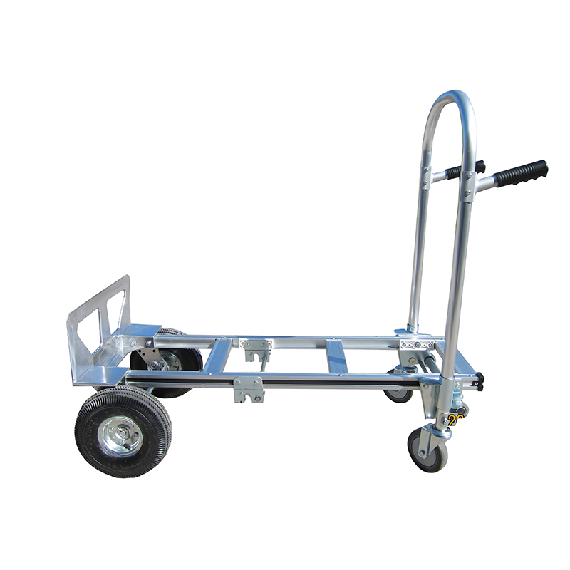 China supplier 2 in 1 aluminum storage hand truck price