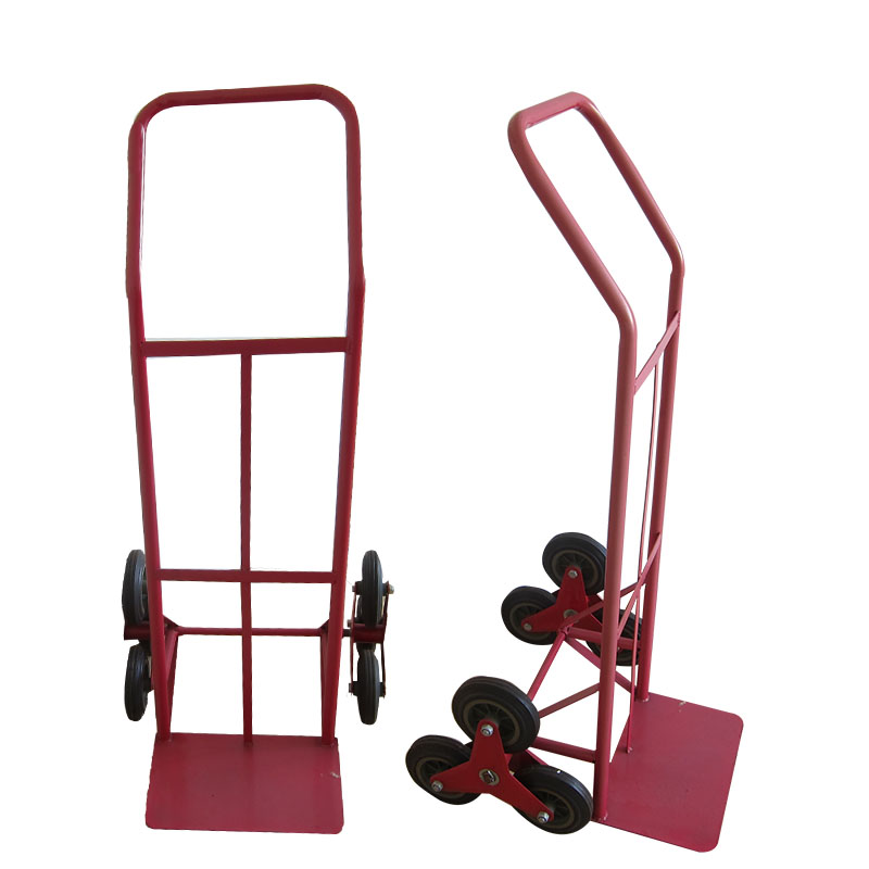 Convenient six wheel stair climbing hand trolley tools