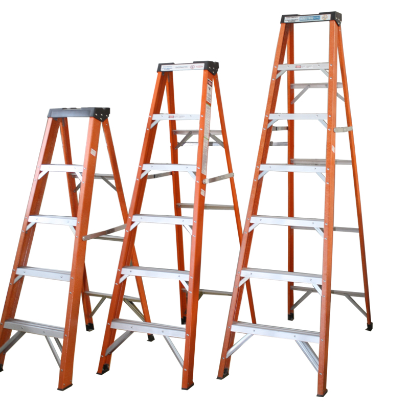 Climbing Step Ladder Gs En131 Approved Multi Purpose Three Five 3 4 5 6 7 Step Layers Single Side Wide Fiberglass Frp 1 YEAR