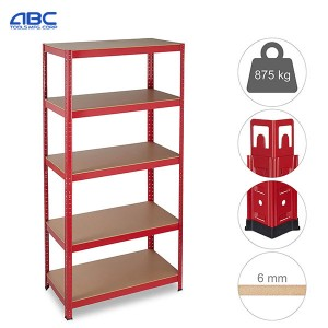 Heavy duty 5 layer boltless painted galvanized steel rack for kitchens, warehouses, garages,office