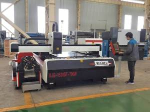 ACCURL 1500W Laser Tube Cutting Machine for Sale Tube Pipe Laser metal Cutting Machine