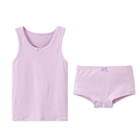China New Fashion Design for Glowing In Dark Underwear - Girls Organic Vest  Top Briefs Set Infant underwear Cotton Best Comfort 2 pieces set Top and  briefs set for girls Girls Undershirts