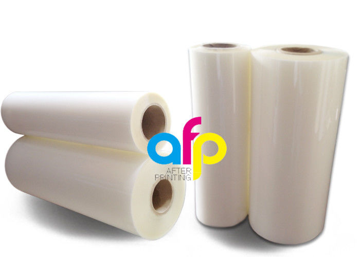 Transparent PET Based BOPP Thermal Film , Scuff Resistant Polyester Laminating Film