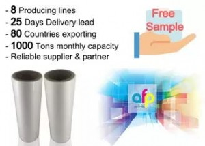 High Gloss Laminate Plastic Roll Thickness 15micron to 30micron Shine BOPP Thermal Lamination Film