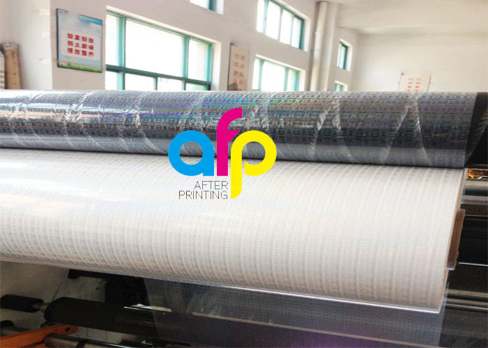 Factory For Laminate Over Laminate - Transparent Holographic Bopp Lamination Film 26micron Standard / Customized Pattern –  After-printing