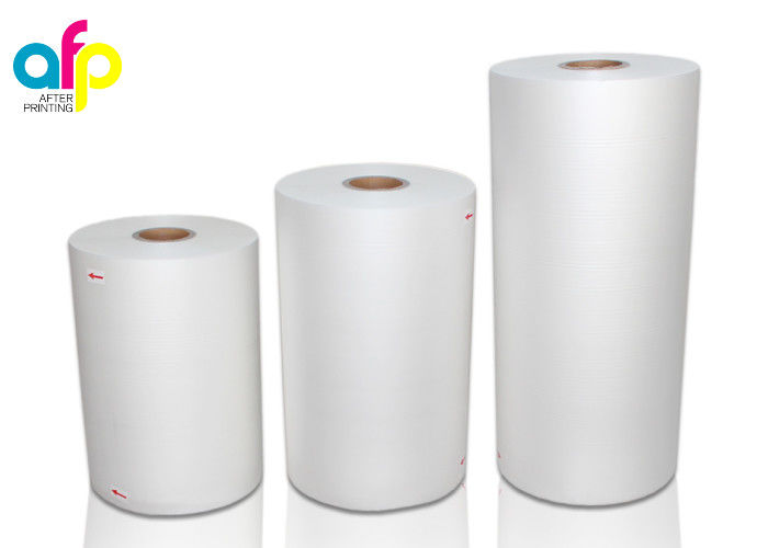 FDA Lamination Plastic Roll White BOPP Thermal Laminating Film for Printing Paper Laminate
