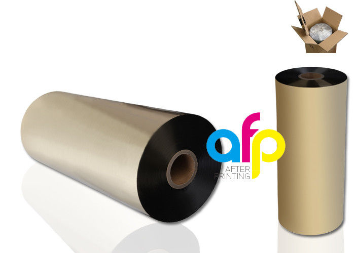 PriceList for Metalized Film Suppliers - Matte Gold Metallic Polyester Film , 24 Micron Polyester Laminating Film –  After-printing