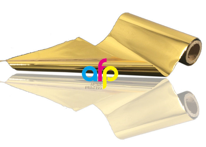 OEM manufacturer Hot Foil Paper - Both Sides Hot Stamping Gold Foil , 640mm * 120m Size Heat Transfer Foil –  After-printing