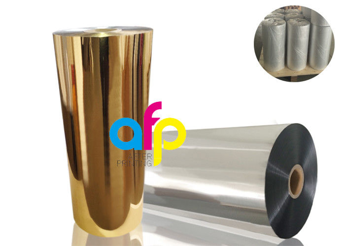 Gold Metalized Plastic Film , Moisture Proof Opaque Metallized Polyester Film