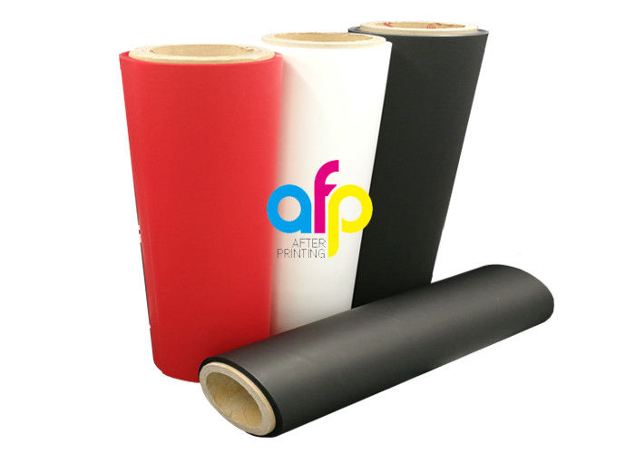 Manufacturer for Soft Touch Coating - Red 35 Micron Matte Lamination Film Roll Eco Friendly Soft Touch Material –  After-printing