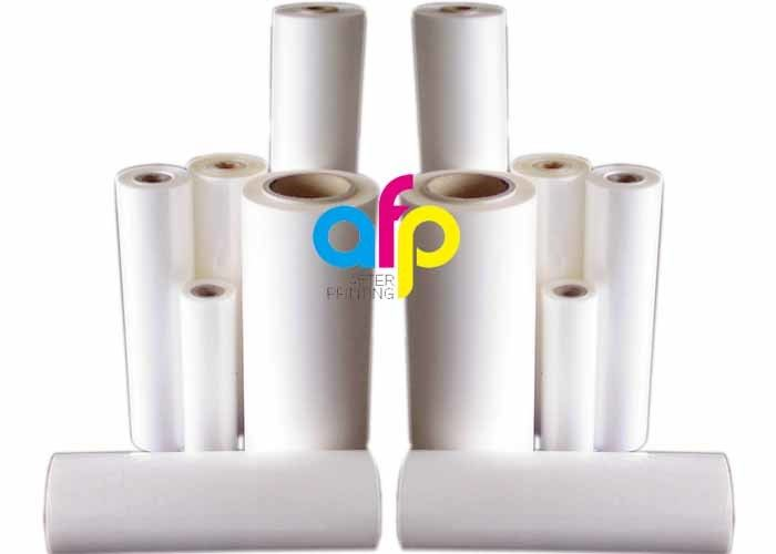 1020mm X 100m Matte Lamination Roll , 75 Mic Bopp Thermal Lamination Film