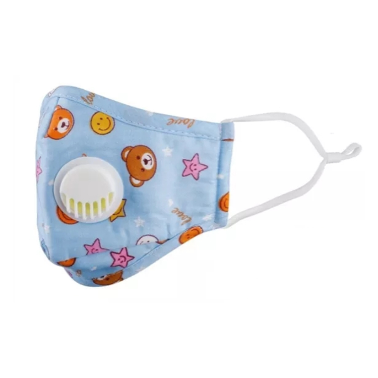 Disposal kids mask with valve/ Animal Pattern Face Respirator for Kids with valve