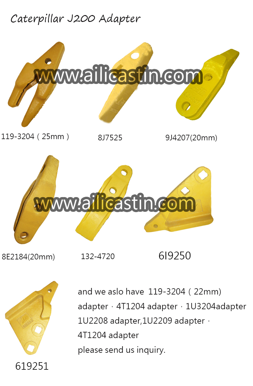 good quality adapter factory support caterpillar J200 casting and forging adapter for