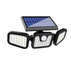 Solar Wall Light with Motion Sensor for Yard Garden with 4 Adjust angle Heads