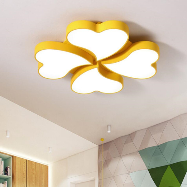 Modern 4-Lucky Leaves Lighting Flush Mount Ceiling Lamp Light Fixture for Home Featured Image