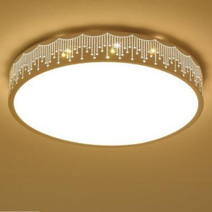 Round Simple Ceiling Lights Dimming Ceiling LED...