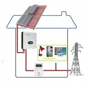 Alicosolar 5kw On-grid-solar-system for most suitable/DIY home solar energy power system