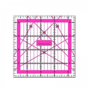 Acrylic ruler, 4.5*4.5 inch,  Acrylic quilting ruler