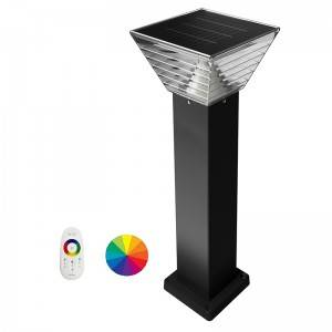 China Wholesale Outdoor Garden Lights Factories –  All In One Solar Bollard Lights-SB21-RGBCW – Amber