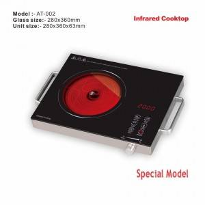 Amor infrared cooker AT-002 China Supplier polished infrared hob with excellent quality for wholesale